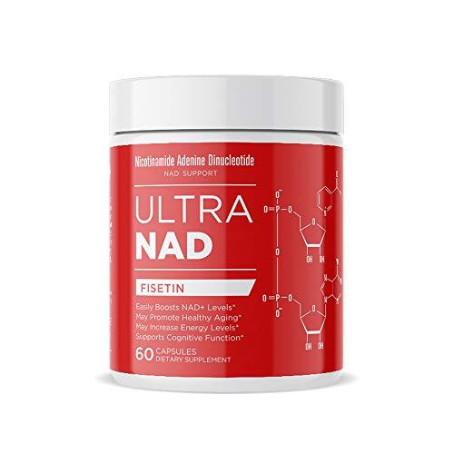 UltraNAD® Fisetin Supplement 250 mg, 60 Veggie Capsules Memory, Focus and Energy Brain Supplement Non-GMO and Vegan Dietary Flavonoid