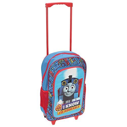Thomas y sus Amigos - Mochila de ruedas para niños niñas (Tamaño Único) (Azul/Rojo)