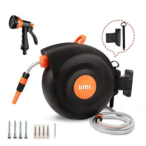 professionnel comparateur Umi.  D'Amazon – Moulinet à cheval de jardin, moulinet automatique 25 + 2 m, rotation à 180 degrés, mode… choix