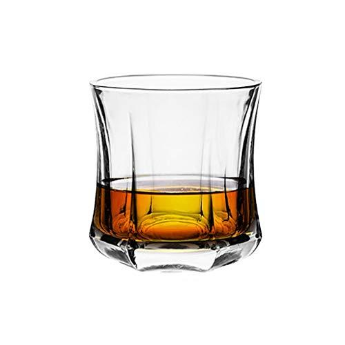 Mode Whisky Gläser, Kristallglas Vintage Whisky Carafe, Scotch Whisky, Bourbon, Cocktails, Rum, Saft, dauerhafte Whisky Gläser (Color : 270ml Hexagon)