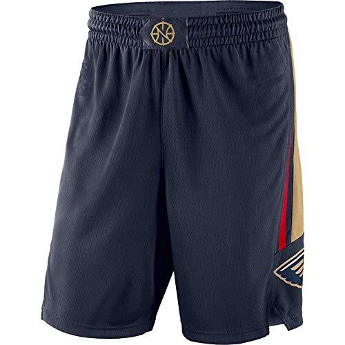 MZYW pantalones cortos de entrenamiento hombres New Orleans Navy,Pelicans 2019/20 Icon Edition Swingman Baloncesto cortos para hombres