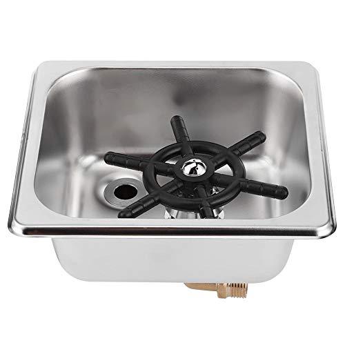 Sciacquatrice per vetro, acciaio inossidabile Detergente per tazze automatico Rubinetto professionale per lavatrice ad alta pressione per bar