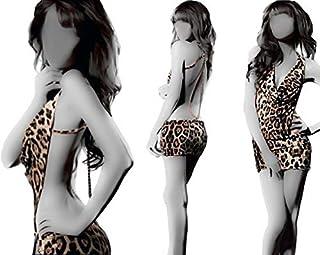 Lingerie Backless Leopard Dress Evening
