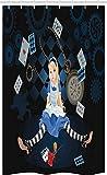 ABAKUHAUS Alice au Pays des Merveilles Rideau de Douche Stalle, Fleurs...