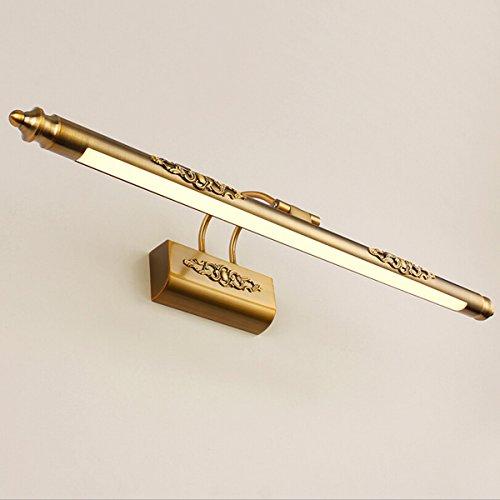 LEDMOMO 50 CM Bad Spiegel Lampe Wasserdichte Retro Bronze Schrank Badspiegel Eitelkeit Lichter (Warmes Licht)