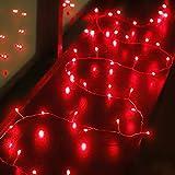 Cadena de Luces de Petardo Verde de 6,5 Feet y 40 LED Guirnalda de Luces de Hadas Funciona con Pilas en Jardín Interior Dormitorio para Decoración de Halloween Navidad Día de San Patricio