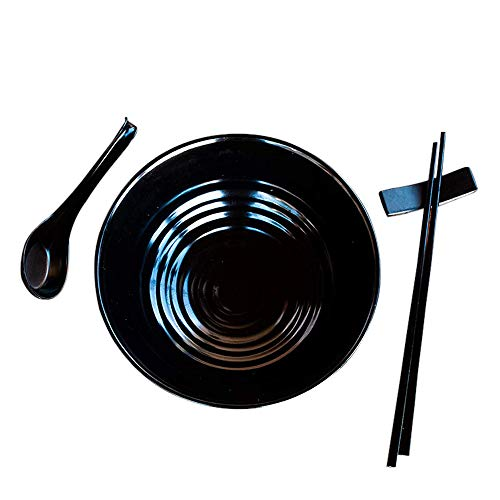 Kimmyer 2 Set (6 Piezas) Ramen Bowl Set-asiático Japonés Estilo con cucharas...