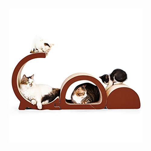 CWYSJ Katzen-Kratzbrett-Aufenthaltsraum-Sofa, Pappstuhl-Bett-Katzen-Kratzer Abnehmbar Passend Für Mehrfache Katzen-Kätzchen