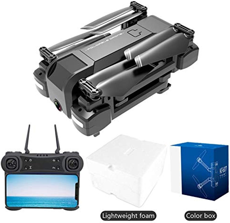 HoganeyVan KF607 RC Drone Flusso Ottico Pressione Altitudine Hold WiFi Regolazione greangolare Elettrico Teletelecamera 1080P FPV Luci LED Drone