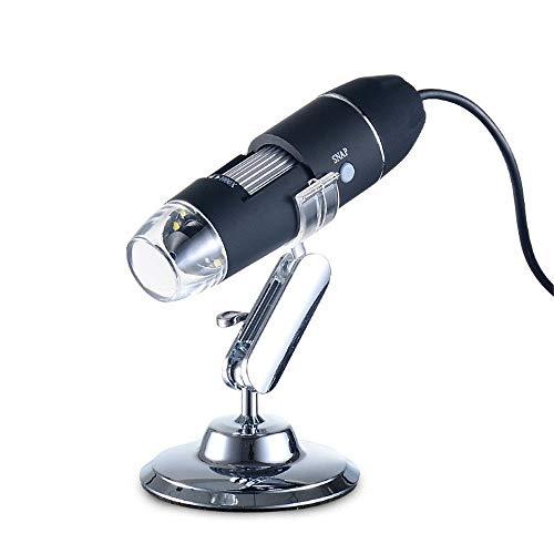 LULUVicky Microscopio Digital Microscopio USB Digital electrónico portátil de Mano Industrial de Belleza electrónica Lupa for Mujeres y Hombres Endoscopio de Aumento (Color : Black, Size : Free Size)