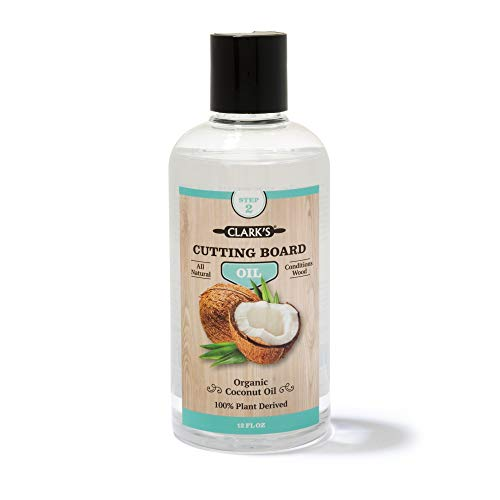 CLARK'S Coconut Cutting Board Oil (12 ounces) by CLARK'S | Made with Refined Coconut Oil
