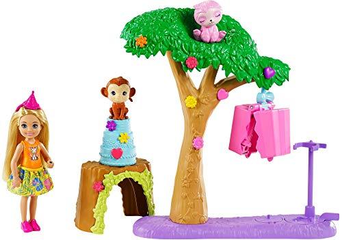 """Barbie GTM84 - Barbie und Chelsea """"Der verrückte Geburtstag"""" Piñataparty-Spielset mit Puppe und 2 Tierfreunden, für Kinder von 3 bis 7 Jahren"""