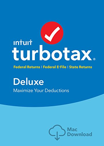 [Old Version] TurboTax Deluxe + State 2018 Tax Software [MAC Download] [Amazon Exclusive]