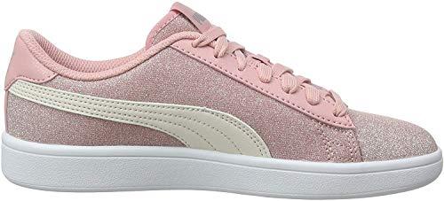 Puma Puma Smash v2 Glitz Glam Jr Sneaker Mädchen, Pink (Bridal Rose-Pastel Parchment-Puma Silver-Puma White 09), 38 EU