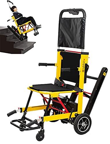 ASEDF Silla De Ruedas Eléctrica para Subir Escaleras, Máquina Inteligente para Subir Escaleras, Oruga Totalmente Automática para Personas Discapacitadas
