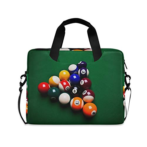 FELIZM Laptoptasche für Sport, bunte Snooker-Laptoptasche mit Schultergurt, Notebook-Computer-Tasche für Männer, Frauen, Jungen, Mädchen, 38,1 - 40,6 cm (15 - 16 Zoll)