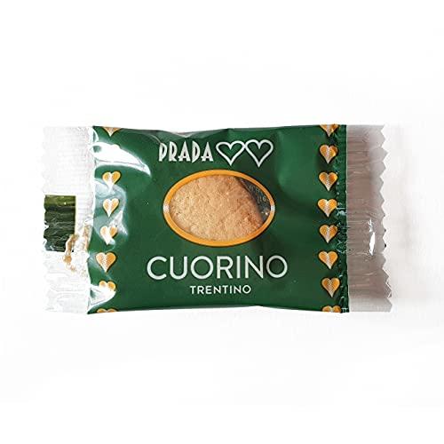 Prada Biscotti - Cuorino - Biscotti da Caffè 240 Pezzi in Confezioni Singole Monoporzione. Prodotto Tipico del Trentino, Realizzato in Italia con Metodo Tradizionale.