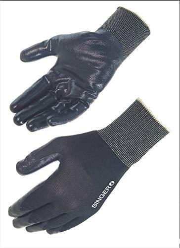 Paire de gants nitrile. Dos aéré. Support polyamide. Dos aéré. Jauge 13. Singer NYMB213NIB. Taille 8
