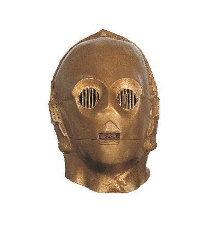 Rubies - Disfraz oficial de Star Wars, casco C3PO, talla única, ST-2866