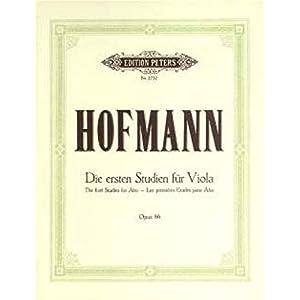 EDITION PETERS HOFMANN RICHARD – FIRST STUDIES OP.86 – VIOLA