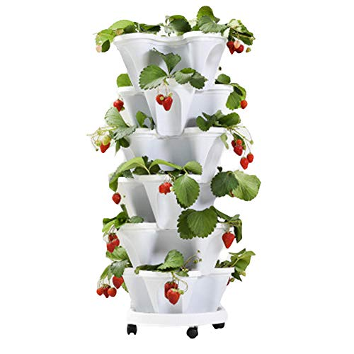 debieborahtoys Stacking Flower Pot Tower, Stackable Vertical Planter Garden Pot...