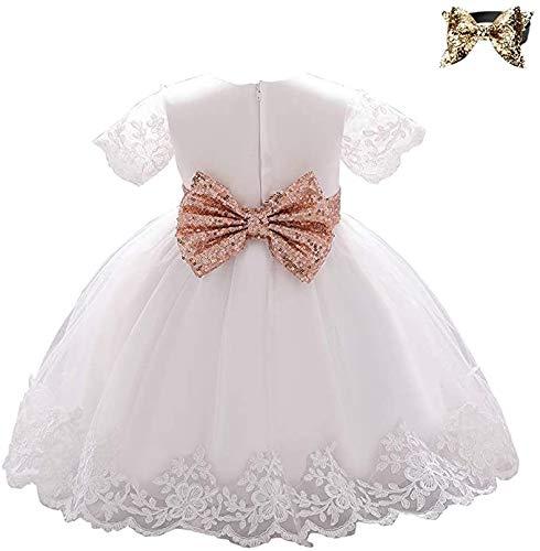 LZH ベビー ドレス 子供ドレス 新生児 リボン セレモニードレス 子供服 フォーマル 赤ちゃんドレス 出産祝い お宮参り 七五三 結婚式 お誕生日 プレゼント 記念写真 ベビー用 ワンピース スカート ヘッドバンド付き