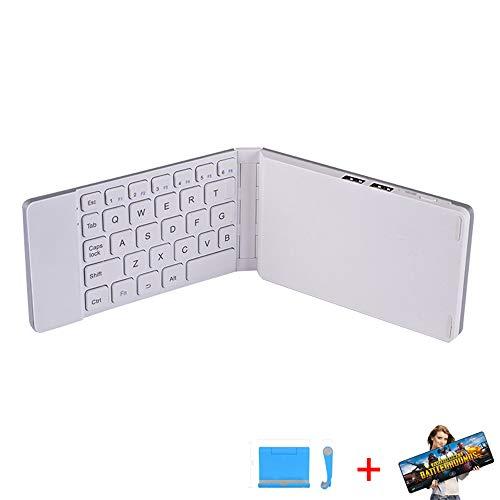 NCBH Smartphone toetsenbord, draadloos Bluetooth-toetsenbord 2 in 1 Wordt geleverd met oplaadfunctie Draagbare vouwen Game Toetsenbord Converter