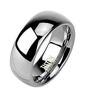 Coolbodyart Tapsi´s Ring Tisten Titan Wolfram Silber 6mm Breit Hochglanz polierter Ring verfügbare Ringgrößen 47 (15) - 66 (21)