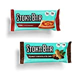 Stoka Bar | Peanut Variety Pack | All Natural Energy Bar | High Protein Low Carb | Keto and Vegan Friendly | 8 Count