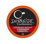 Darkside Flavored Coffee, Cinnamon Caramel for Keurig K Cup Brewers, 40Count