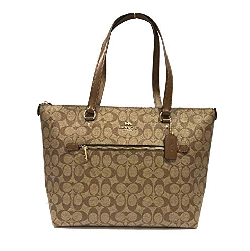 Coach Gllery Tote Shoulder Handbag (IM/Khaki/Saddle)