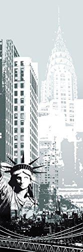 Plage Vinilo de decoración de nevera, frigorifico y muebles de cocina - Nueva York, 180 x 59,5 cm