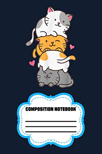 Cat Cats Meowtain Cute Kitty Pile Anime Kawaii Neko Gift 920EC Notebook: 120 Wide Lined Pages - 6' x 9' - College Ruled Journal Book, Planner, Diary for Women, Men, Teens, and Children