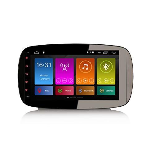 ERISIN 9 pollici Android 10.0 Autoradio Multimedia per Mercedes-Benz Smart Support GPS Sat Nav Bluetooth Wifi 4G DAB + RDS Mirror Link TPMS Amplificatore DSP CarPlay integrato