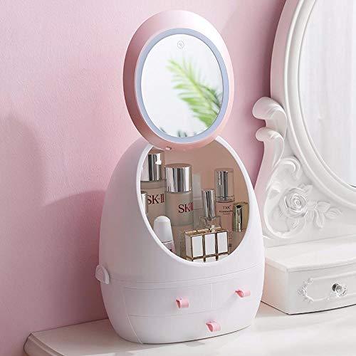 Cosmetica opbergdoos in de vorm van een lade voor sieraden met opbergruimte voor cosmetica met spiegel voor lichte make-up Ordinary-without Light