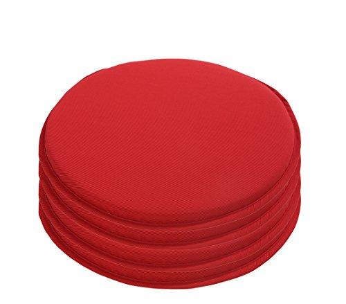 Dehner Sitzkissen Kim, 4 Stück, je Ø 40 cm, rot