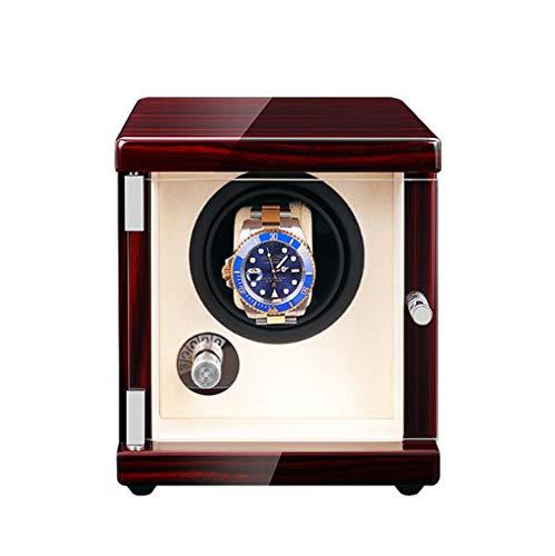 YZ-YUAN USB Single Uhrenbeweger, Maschine hochwertige Massivholz Box Uhr Automatikaufzug Display Box,Beige