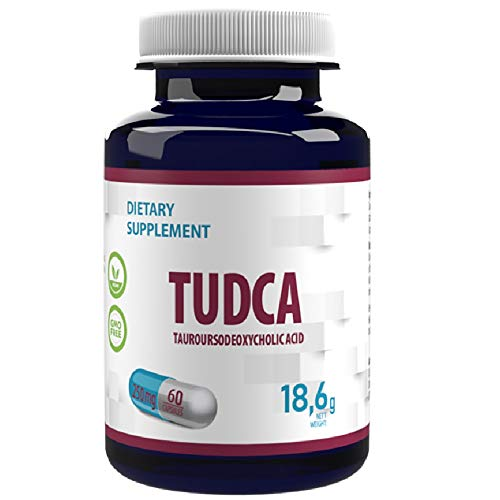 TUDCA Liver Support, Detox, Cleanse 60 Vegan caps 250mg High Strength, No Fillers or Bulkers, Gluten, GMO Free