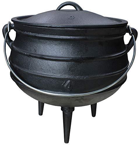 Grillmaster Gusseisen Dutch Oven African Pott Feuertopf Grill Lagerfeuer Topf Eingebrannt 12L