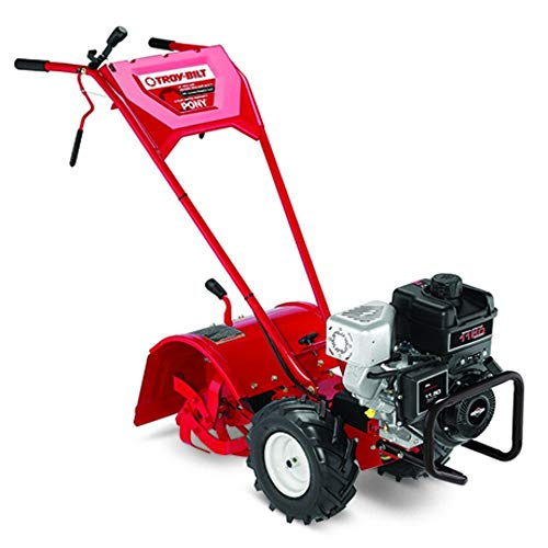 Find Bargain Troy-Bilt Pony ES 250cc Gas Powered Electric Start Forward Rotating Rear Tine Tiller