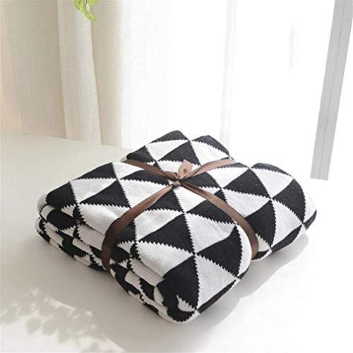 CJK Decken-super weiche Strukturierter Werfen Decken-Sofa-Bett Warm große Sofa Snug Rug Deluxe Decke für Schlafzimmer-Haus (Farbe, Grau, Größe, 130x160cm),Schwarz,110x130cm