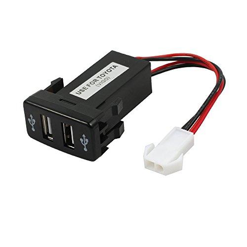 eSynic Adaptador de carga de coche encendedor de cigarrillos doble puerto doble...