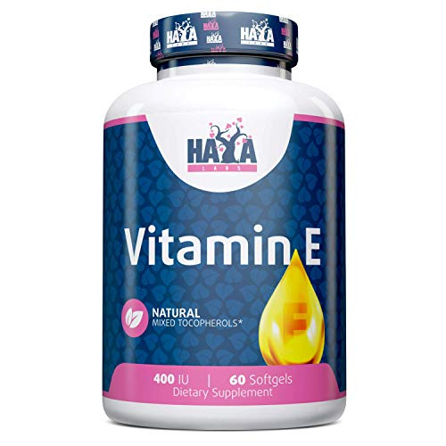 Haya Labs Vitamin E Mixed Tocopherols 400 IU 60 Softgels