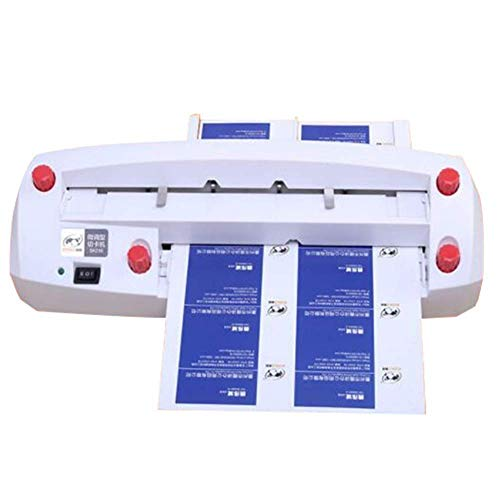 Business Card Cutter Automatic Binding Machine Auto Feeding Electric Card Cutter Adjustable Name Card Slitter for 3.5'x2' Card - 110V