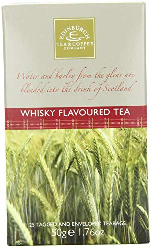 Edinburgh Tea & Coffee, Whisky (Whiskey) Flavoured Tea, Box of 25 Tea Bag Sachets, Imported