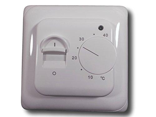 SM-PC®, Thermostat Fußbodenheizung Elektroheizung Unterputz weiß mit externem 3m Temperaturfühler #889