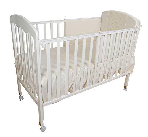 Cuna para bebé, modelo Verona mas colchon de viscolastica mas edredon en gris