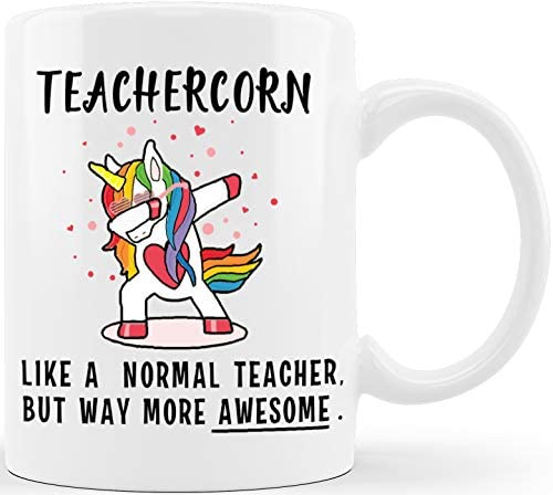 Teachercorn Unicorn Teacher Gifts Funny Novelty Coffee Cups for Teachers Appreciation Gifts product image