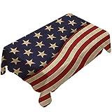 Hemoton Bandera Patriótica Cubre Mesa Bandera Americana Camino de Mesa Bandera de Los Americanos Estrellas Corredor para La Decoración del Evento Electoral