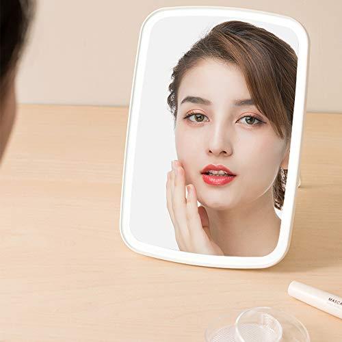 JORDAN & JUDY Espejo de Maquillaje LED, luz Plegable de Espejo portátil, luz de Belleza de Espejo, atenuación de Soporte, Pantalla táctil